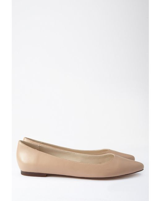 Forever 21 | Natural Faux Leather Pointed Flats | Lyst