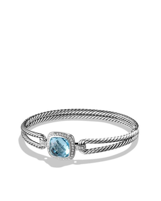 David Yurman | Bracelet With Blue Topaz And Diamonds, 11mm | Lyst