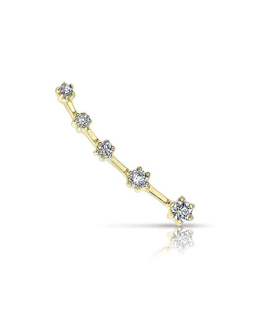 Anne Sisteron | Metallic 14kt Yellow Gold Diamond Organic Ear Climber | Lyst