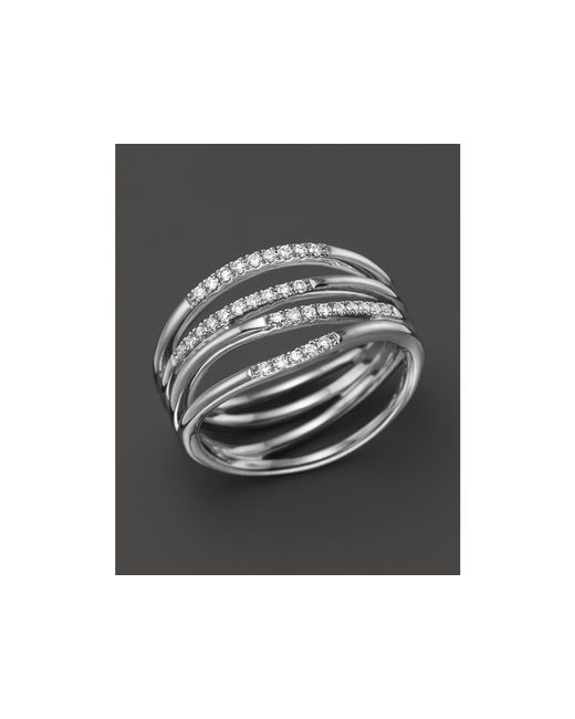 Dana Rebecca | 14k White Gold Wisp Ring With Diamonds | Lyst