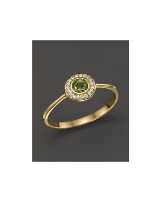 Ippolita | Green 18k Lollipop Mini Ring In Peridot With Diamonds | Lyst