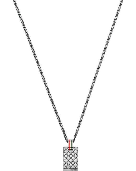 Gucci   Metallic Interlocking Pendant Necklace for Men   Lyst