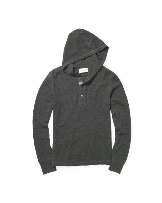 Denim & Supply Ralph Lauren | Gray Waffle-knit Hooded Henley for Men | Lyst