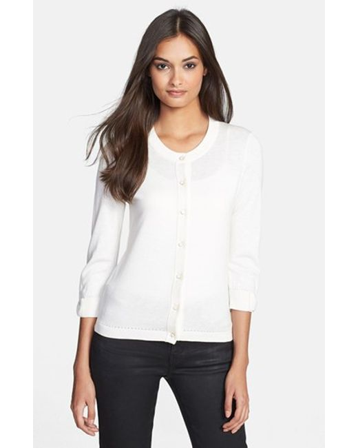 kate spade new york | Natural 'somerset' Cotton Blend Cardigan | Lyst