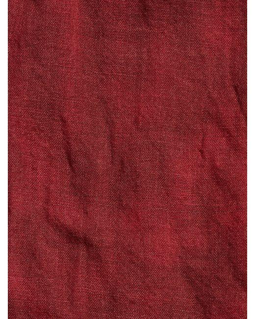 John Varvatos | Red Tie Dye Micro Plaid Scarf for Men | Lyst