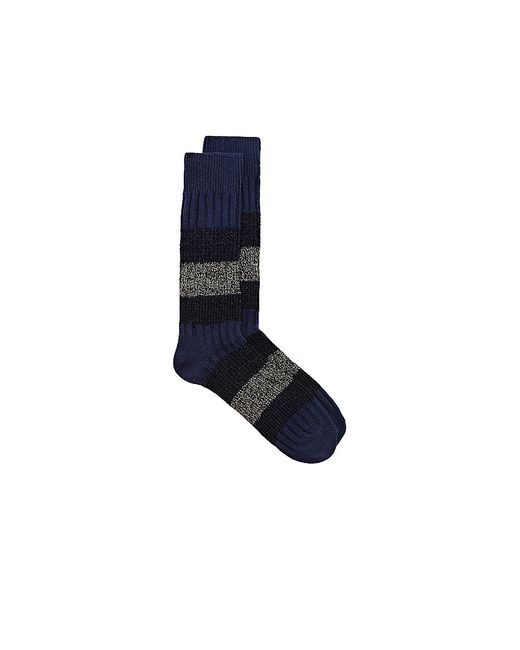 Vince Camuto | Blue Triple-striped Crew Sock | Lyst