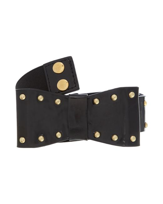 Therapy | Black Ashley Bow Waist Belt | Lyst