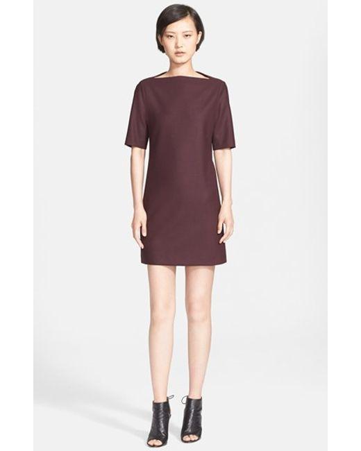 Theory   Purple 'Harkin' Stretch Wool Sheath Dress   Lyst