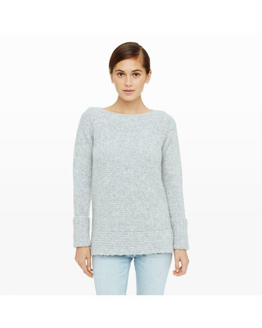 Club Monaco | Gray Matalin Textured-knit Sweater | Lyst