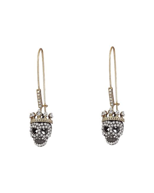 Betsey Johnson | Gray Dark Shadows Skull Earrings | Lyst