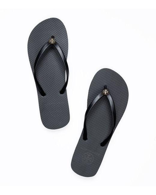 Tory Burch | Black Thin Flip-flop | Lyst