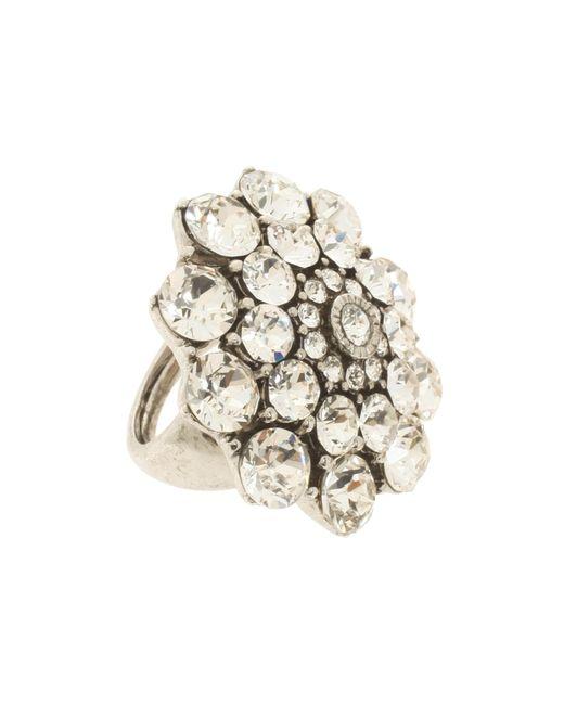 Oscar de la Renta   Metallic Crystal Ring   Lyst