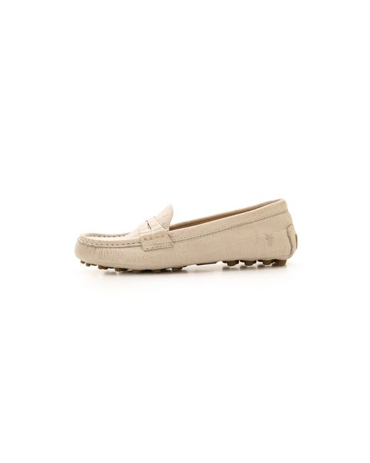 Frye | Natural Rebecca Penny Loafers - Grey | Lyst