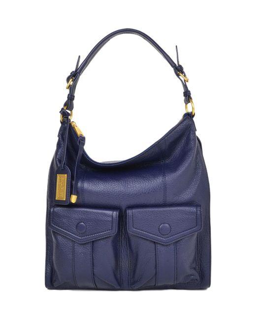 Badgley Mischka | Blue Leia Soft Pebble Handbag | Lyst
