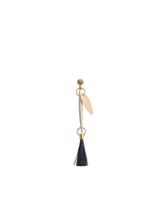 Chloé | Metallic Harlow Pieced Earrings With Feather | Lyst
