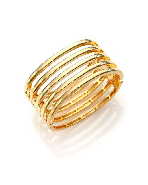 Kenneth Jay Lane | Metallic Caged Five-Row Cuff Bracelet | Lyst