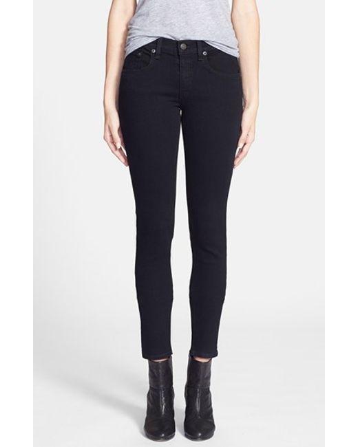 Rag & Bone | Black 'the Skinny' Stretch Jeans | Lyst