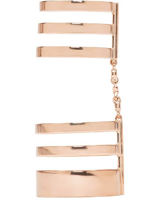 Repossi | Metallic Rose Gold Cage Berbere Ring | Lyst