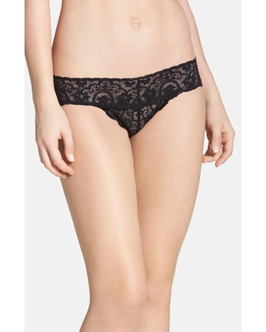 Commando | Black 'tulip' Lace Thong | Lyst