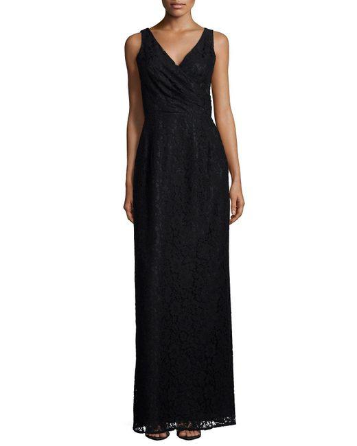 Donna Morgan | Black Lark Sleeveless Column Gown | Lyst