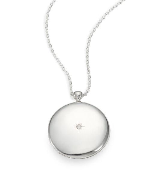 Astley Clarke | Metallic Sterling Silver Large Astley Locket Necklace | Lyst
