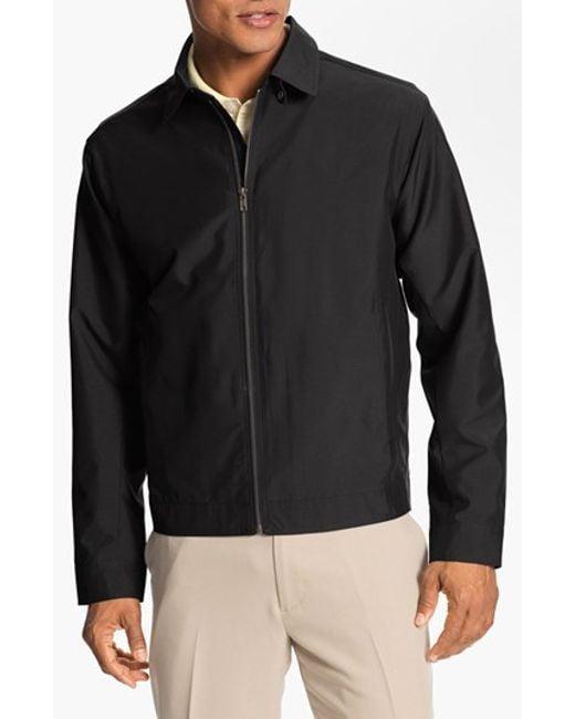 Cutter & Buck   Black 'weathertec Mason' Wind & Water Resistant Jacket for Men   Lyst