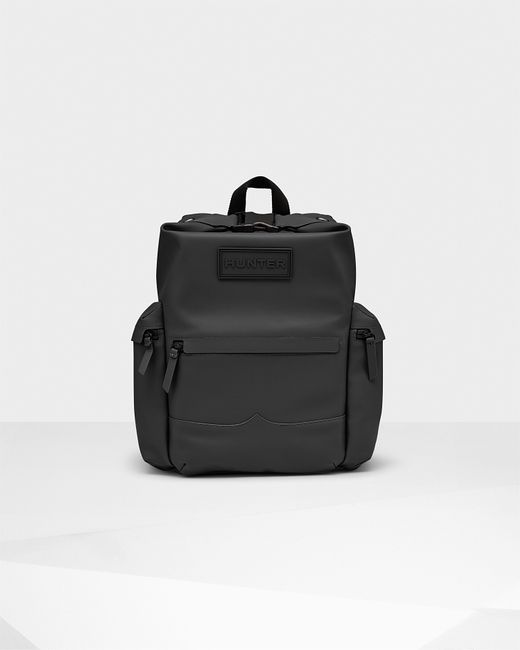 Hunter | Black Original Rubberized Leather Backpack for Men | Lyst