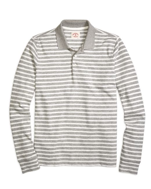 Brooks Brothers | Gray Stripe Rugby Shirt for Men | Lyst