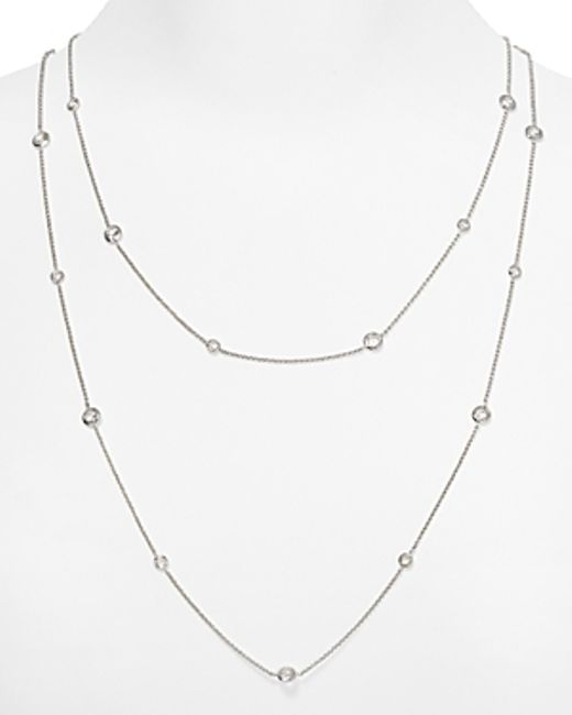 Nadri | Metallic Bezel Chain Necklace, 16"