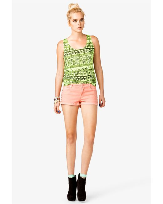 Forever 21 | Pink Studded Denim Shorts | Lyst
