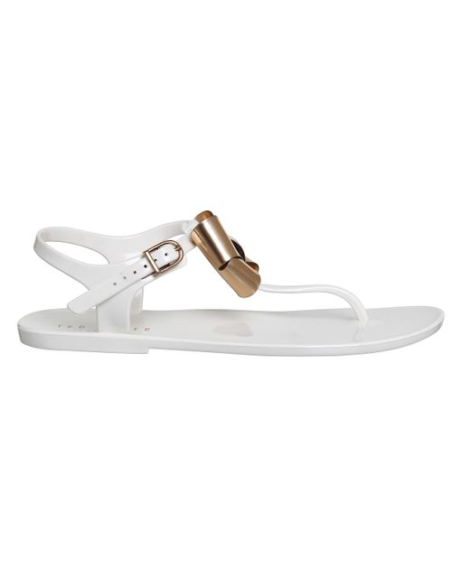 Ted Baker Verona Bow Sandals In White Cream Save 26