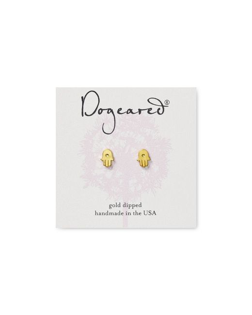Dogeared | Metallic Hamsa Stud Earrings | Lyst