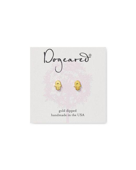 Dogeared   Metallic Hamsa Stud Earrings   Lyst