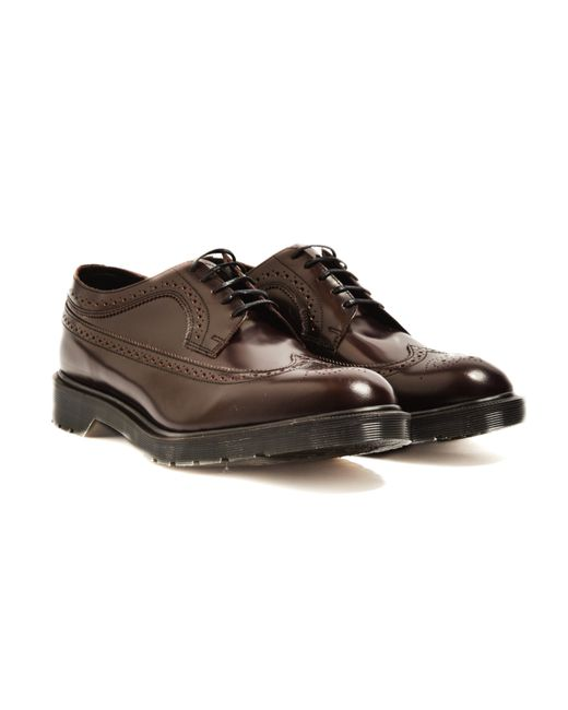 Dr. Martens | Brown Made In England Classic Brogue Shoe Burgundy for Men | Lyst