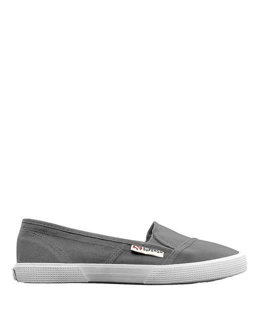 Superga | Gray Canvas Slip-on Sneakers | Lyst