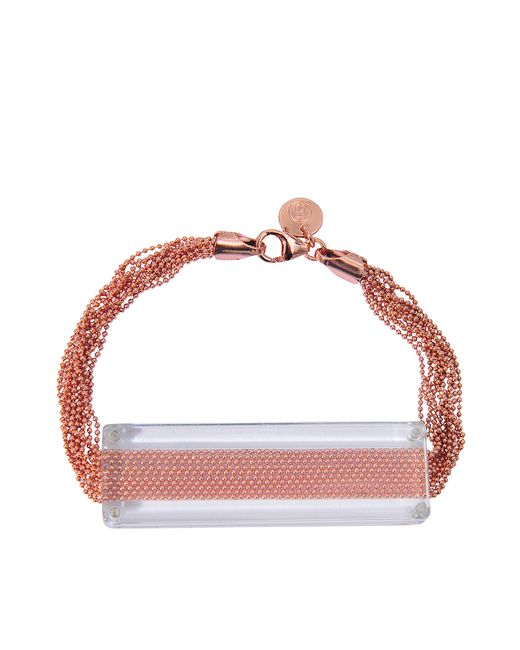 MM6 by Maison Martin Margiela | Metallic Plexiglass Chains Bracelet | Lyst