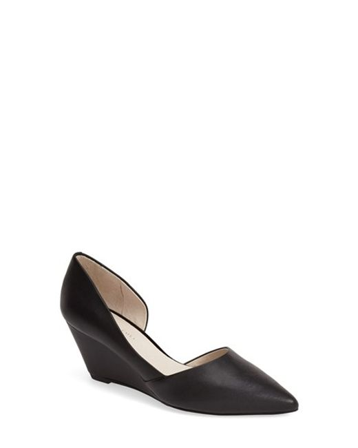 Kenneth Cole | Black 'ellis' Half D'orsay Wedge Pump | Lyst