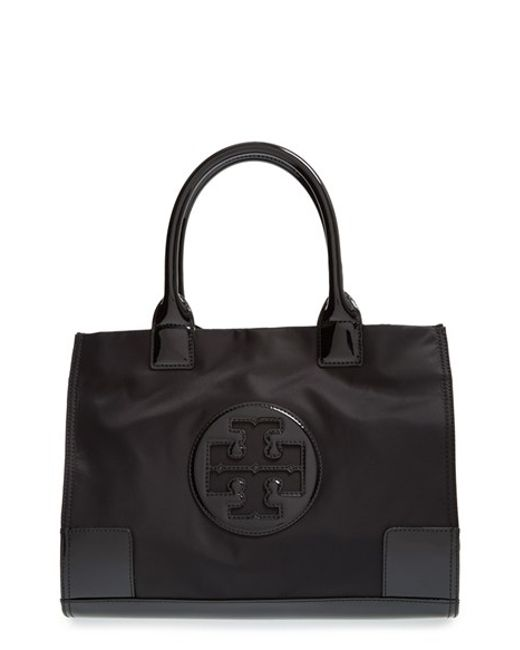 Tory Burch | Black Ella Shell Tote | Lyst