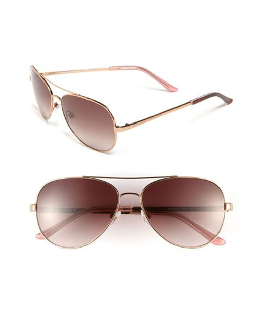 Kate Spade | Pink 'avaline' 58mm Aviator Sunglasses | Lyst