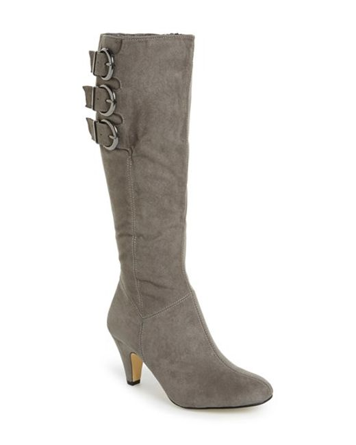 vita transit ii knee high boots in gray lyst
