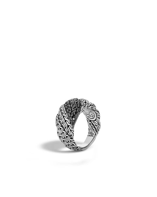 John Hardy   Twisted Chain Band Ring With Black Sapphire   Lyst