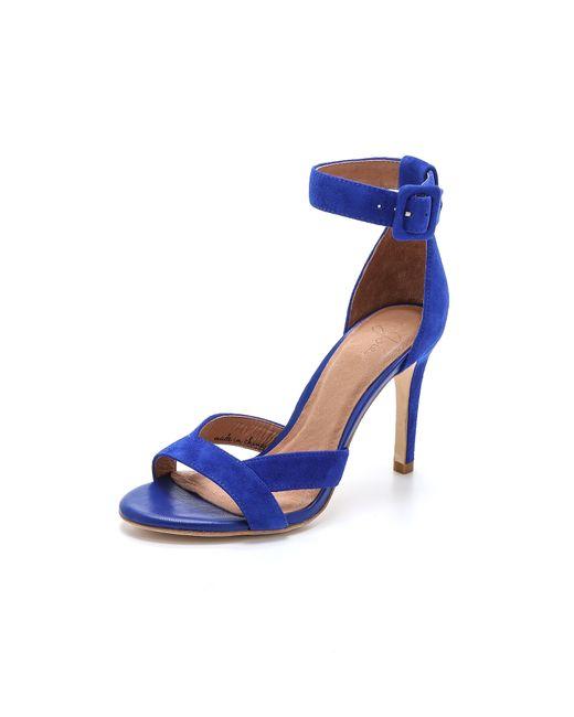 Joie   Blue Alvita Naked Suede Sandal   Lyst