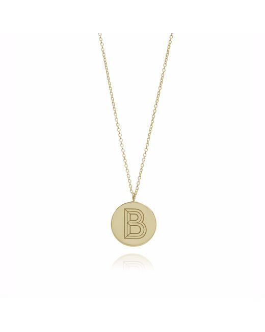Myia Bonner | Metallic Gold B Facett Initial Necklace | Lyst