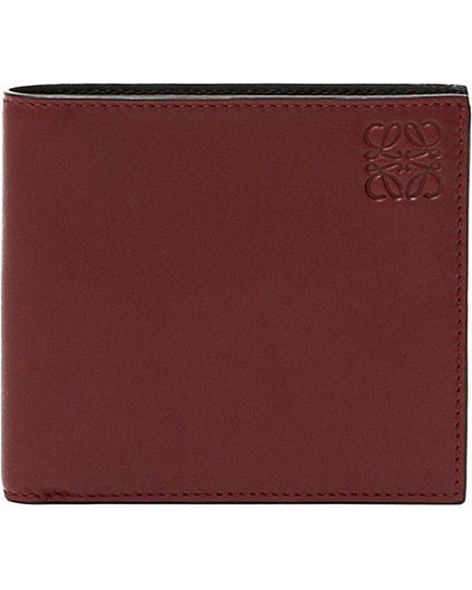 Loewe | Red Logo-embossed Leather Bi-fold Wallet for Men | Lyst