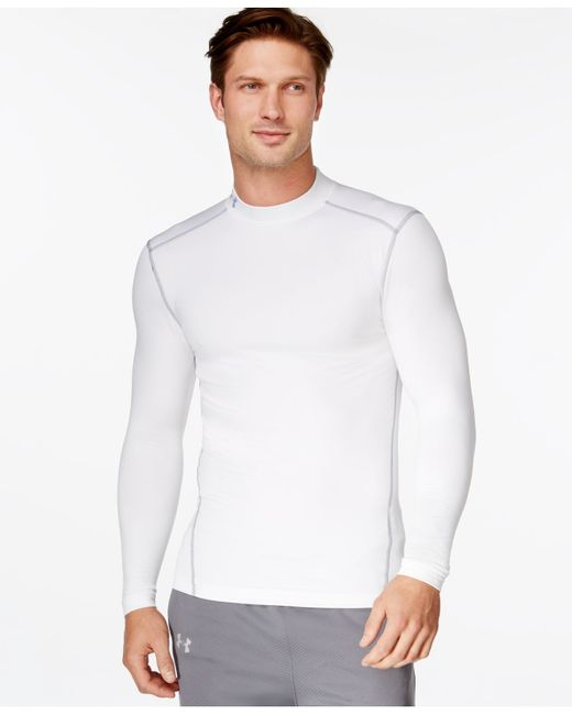 under armour men 39 s coldgear mock neck long sleeve t shirt