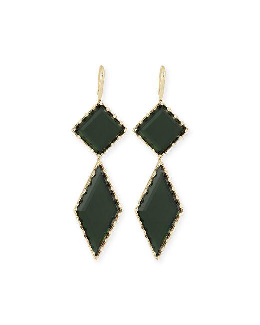 Lana Jewelry | Green 14k Gold Midnight Drop Earrings | Lyst
