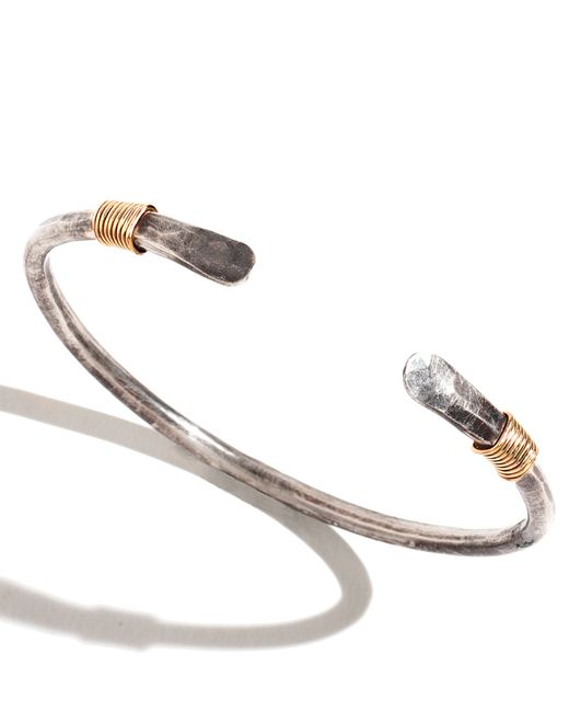 Melissa Joy Manning | Metallic Men's Oxidized Silver Cuff With Gold Wire Wrap for Men | Lyst
