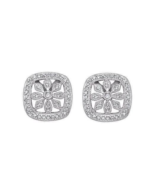 KC Designs | White 14k Gold And Diamond Earrings | Lyst