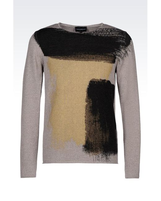 Emporio Armani | Gray Jumper for Men | Lyst