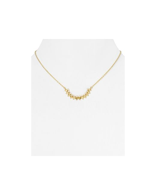 "Rebecca Minkoff   Metallic Spike Pendant Necklace, 18""   Lyst"